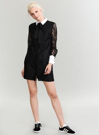 Gömlek Yakalı Dantel Elbise-People By Fabrika